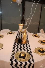 Gold Table Decorations Black And Gold Party Table Decorations Party Deco Pinterest