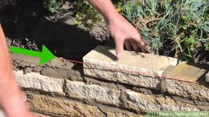 How To Build A Stone Patio by How To Build A Brick Wall With Pictures Wikihow