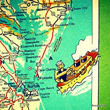 armstrong cus map virginia coast is a vibrant photograph of a vintage map its