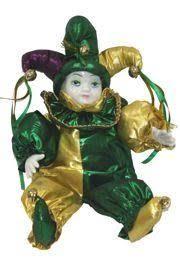 mardi gras doll x 10in wide jester mardi gras doll