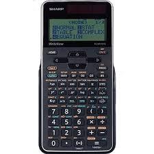 calculatrice graphique bureau en gros sharp calculatrice 16 chiffres elw516xgbsl noir staples