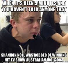 What Is A Meme On Facebook - shannon noll credits viral success for reviving his career daily