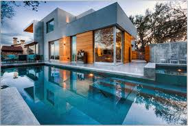 beautiful white glass wood modern design inside swimming pool