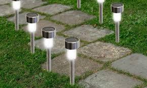 solarek water resistant stainless steel led solar garden path