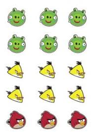free printable angry birds cupcake toppers stickers angry