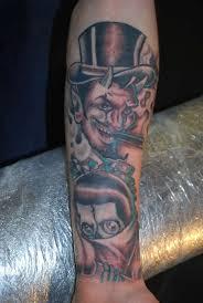 gangsta devil tattoo on forearm