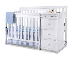 White Convertible Crib With Changing Table by Sorelle Newport 2 In 1 Convertible Mini Crib U0026 Changer U0026 Reviews