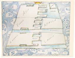 Map Of Watercolor Florida by Search Steinberg U0027s Artwork Saul Steinberg Foundation