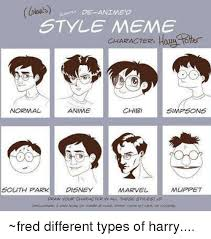 Meme Characters - de animed style meme character how to anime chibi normal simpson