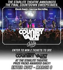 raiding the country vault sweepstakes the starlite theatre in
