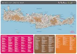 Map Of Crete Greece by Check Out Our Wines Of Crete Map In English You Can Find All The