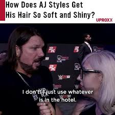 Aj Styles Memes - aj styles reveals his most closely guarded hair care secrets