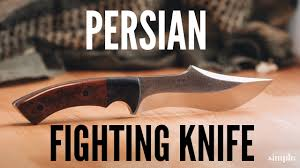 knife making how to make a persian fighter curved blade youtube