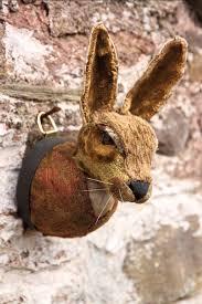 ceramic nature rabbit table l faux taxidermy rabbit head