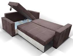canapé avec coffre canape angle en tissu avec couchage et coffre de rangement