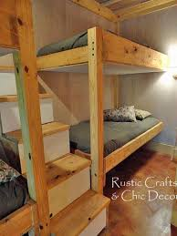 Wooden Loft Bed Diy by Best 25 Corner Bunk Beds Ideas On Pinterest Bunk Rooms Cabin