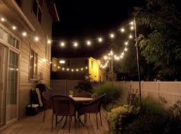 Outdoor Decoration by Rustic Outdoor Decoration With Diy Backyard Light Strings And