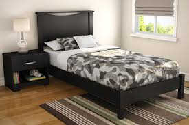 twin platform storage bed step one twin platform bed u0026 headboard in pure black ojcommerce