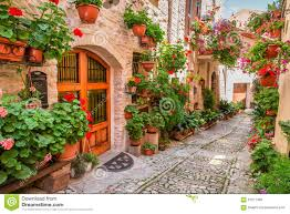 Small Town Street In Small Town In Italy In Summer Stock Photo Image 61077439