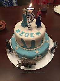 frozen themed fondant covered cake celebratory cakes ruchik