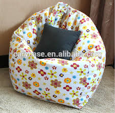 fashion floral print cotton fabric adults sit bean bag chair