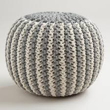 Knitted Ottoman How To Make A Crocheted Flower Knitted Pouf Florist H G