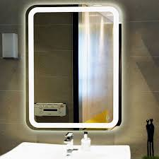 Contemporary Vanity Mirrors Bathroom The Wall Mounted 3x Lighted Makeup Mirror Contemporary