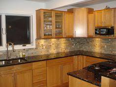 Surprising Oak Kitchen Cabinets With Granite Countertops - Kitchen backsplash ideas with dark oak cabinets