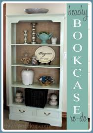 Bookshelf Makeover Ideas A Beachy Bookcase Makeover The V Spot