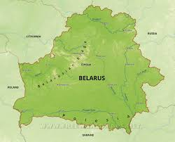 map of belarus belarus physical map