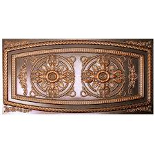 2x4 Suspended Ceiling Tiles Home Depot by Udecor Riga 2 Ft X 4 Ft Antique Copper Lay In Or Glue Up Border
