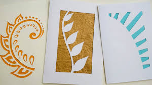 how to make greeting cards paper cutting