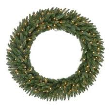48 in pre lit led wesley pine artificial wreath x 366