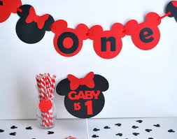 minnie mouse inspired birthday party black red minnie