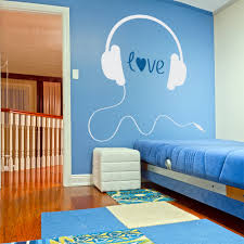 compare prices on music wall mural online shopping buy low price love music headphones decal love for music wall decal home decoration bedroom wall mural vinyl