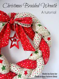 christmas braided wreath a tutorial peek a boo pages sew