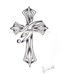 tattoo cross designs wings tattoomagz
