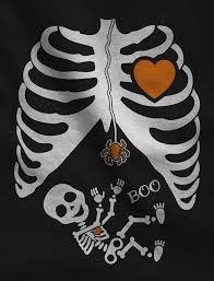 Halloween Costume Pregnant Skeleton by Pregnant Skeleton Baby Halloween Xray Maternity Tank Top Tunic