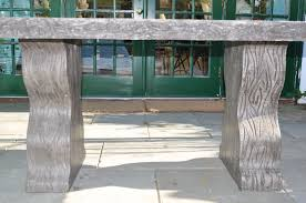 Teal Dining Table by Faux Bois Outdoor Concrete Dining Table Mecox Gardens