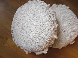 Shabby Chic Pillow Shams by Shabby Chic 100 Hand Baumwolle Gehäkelt Elfenbeinweiß Runde