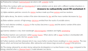 radioactivity multiple choice question quiz word fill gap fill