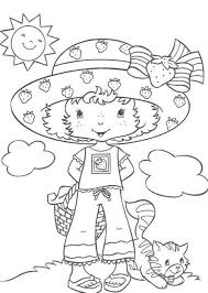 download picnic strawberry shortcake coloring page or print