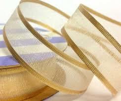 organza ribbon 15mm satin edge organza ribbon gold