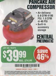 black friday air compressor black friday deal central pneumatic 3 gallon 100 psi oilless