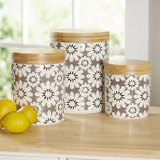 west bend rose aluminum and white 8 piece canister set flour