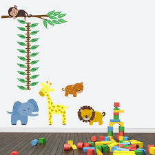 jungle height chart wall sticker by mirrorin notonthehighstreet com jungle height chart wall sticker