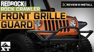 jeep front grill guard jeep wrangler 2007 2017 jk redrock 4x4 rock crawler front grille