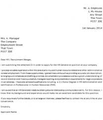 hr generalist cover letter example icover org uk