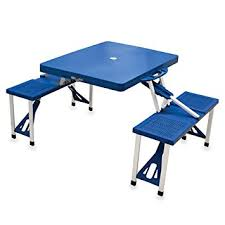 fold out picnic table amazon com picnic time portable folding picnic table with seating