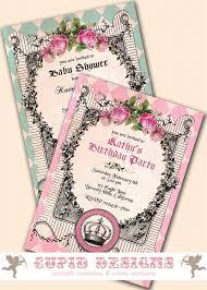 baby shower invitation vintage baby shower invitation baby